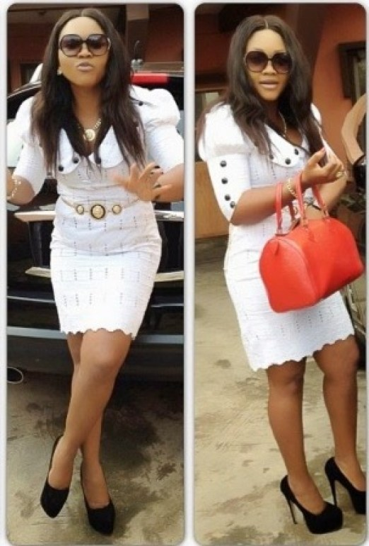 Mercy Aigbe on lace design
