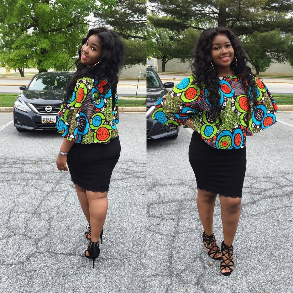 New Ankara Styles Siks Nd Tops: 2018 Trending Ankara Top Styles For Ladies