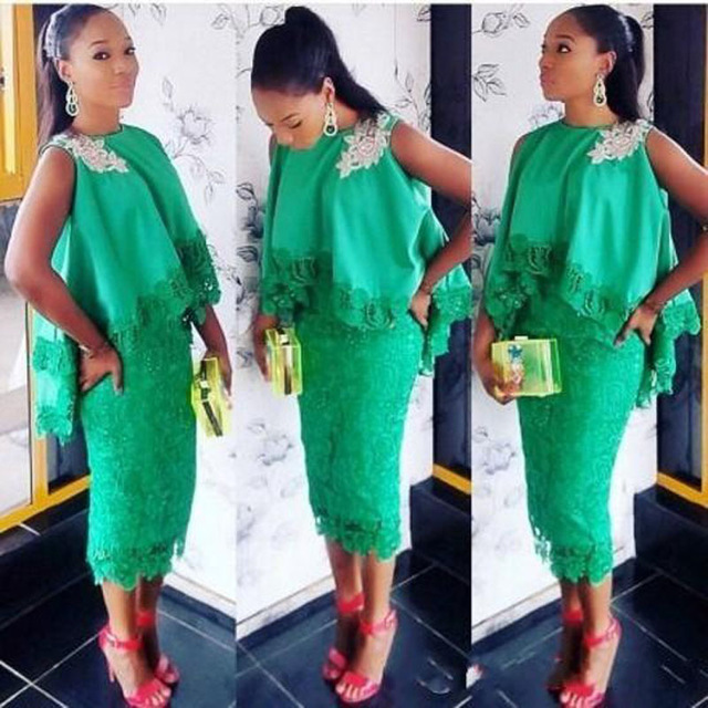 Nigerian Lace Short Gown Styles For The Beautiful Ladies