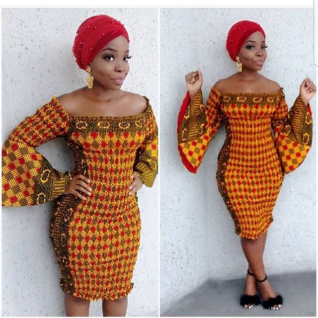 Simple Ankara Short Gown Styles 2018