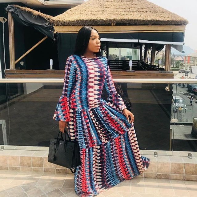 mercy aigbe maxi gown
