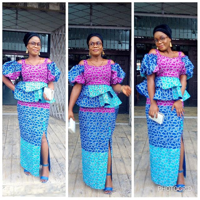 Ankara Skirt and Blouse Style for Wedding