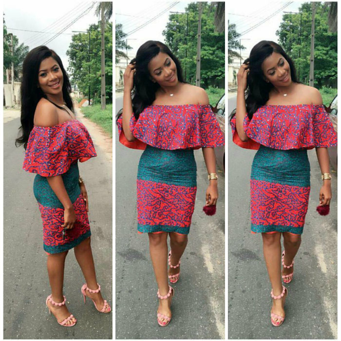 Off Shoulder Ankara Short Gown Styles 2018