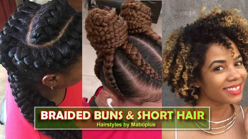 Braided Buns Short Natural Hairstyles Work Week Vibes
