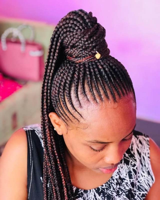 Cute Braided Ponytail Hairstyles for Black Hair That are ...