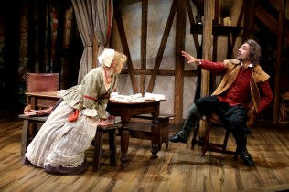 Kimberly Gilbert and Maboud Ebrahimzadeh as Elizabeth and Henry Condell in The Book of Will