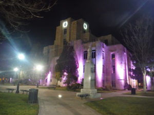 Boulder County Courthouse by night