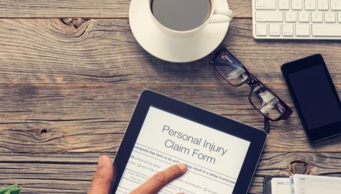 personal injury claim form in Register