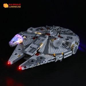 Kit led à câbler pour Le faucon millenium LEGO® Star Wars 75257