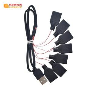 Câble d'extension USB 7 en 1 pour kit led LEGO®