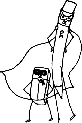 Pencil-Man-Eraser-Boy-BW