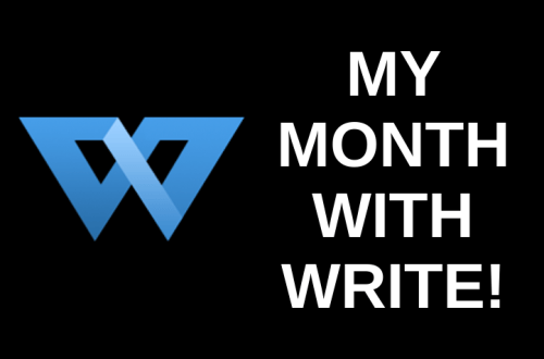 My Month with Write! (A Software Review)