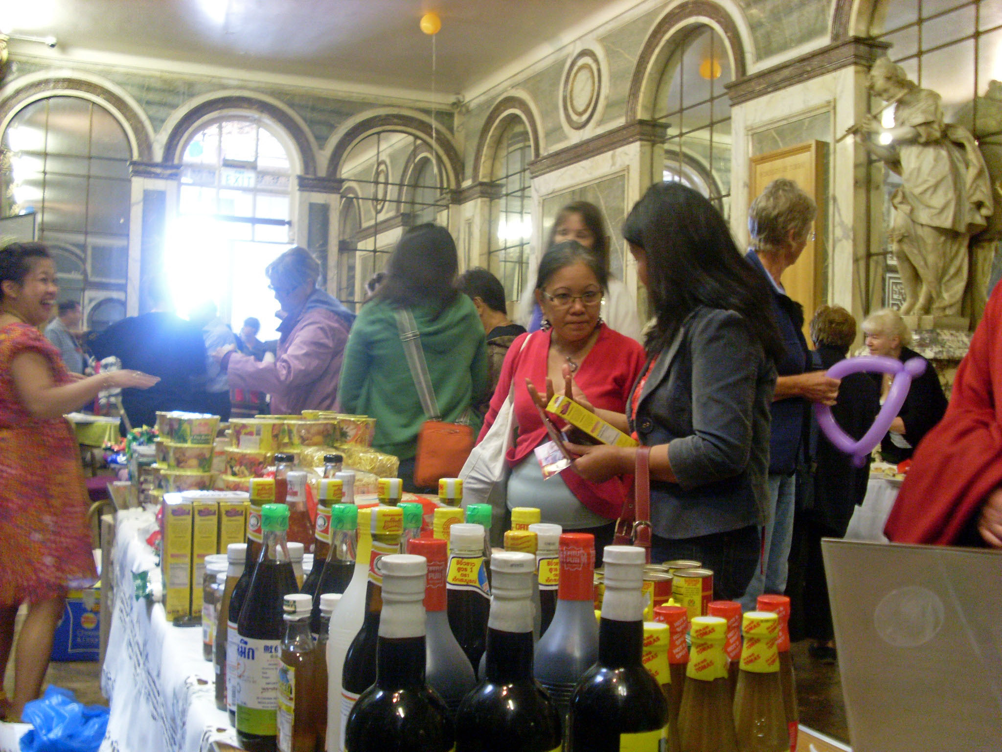 filipino stall in the marquee Inside the mansion)