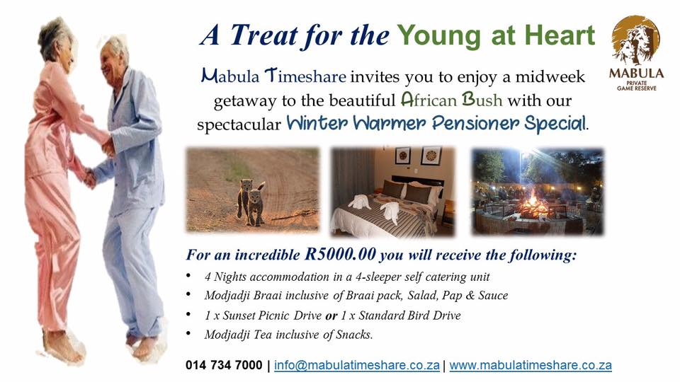Winter Warmer Pensioner Special – May & June 2017.