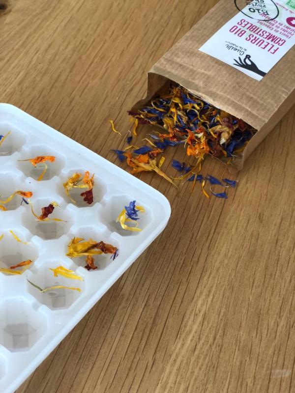 Fleurs comestibles bio Box de naturopathie