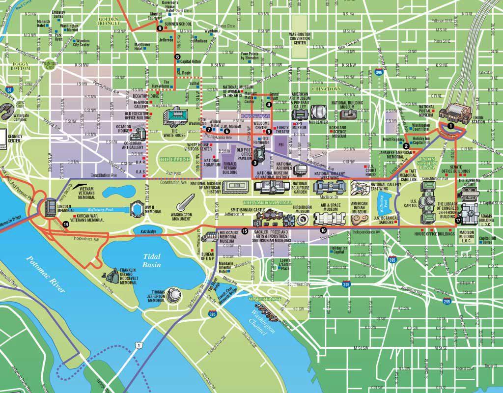 Macneill Macintosh Washington Dc Trolley Tours Map