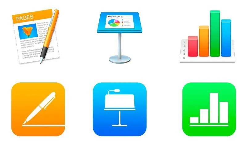 image of iWork apps