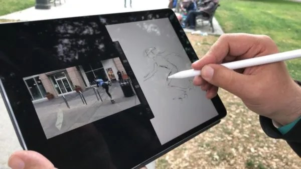 drawing on an iPad