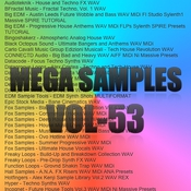 Mega samples vol 53 logo icon