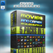 Movies and games styles premium bundle 237340 icon icon