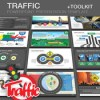 Traffic powerpoint presentation template plus toolkit 12062608 icon