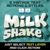Vintage text actions styles textures bundle 309272 icon