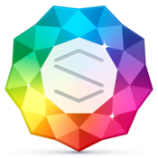 Sparkle visual web design 2 icon