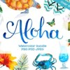 Aloha watercolor bundle icon