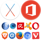 Os x el capitan 10 11 6 and ms office vl 15 23 and mac antiviruses and browsers icon