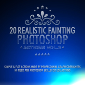 20 realistic painting photoshop actions vol 2 12060206 icon