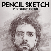 Pencil sketch photoshop action by eugene design 17227306 icon