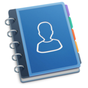 Contacts journal crm business and professional relationship manager for clients customers and sales leads icon