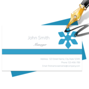 Blue penguin business card designer icon