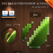 3d toy bricks photoshop actions 3924994 icon