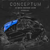 Conceptum 3d sketch photoshop action 19173555 icon