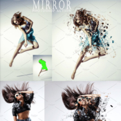 Creative market mirror photoshop action 1192190 icon