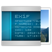 Exif editor edit metadata in directly your photos icon
