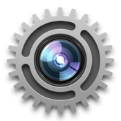Webcam settings control full camera adjustment icon