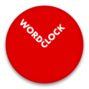 Word clock typographic clock and interactive art work icon