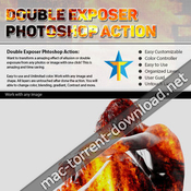 Double exposure photoshop action bundle 19515214 icon
