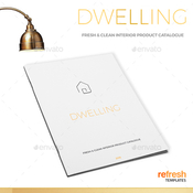 Dwelling clean interior catalogue plantilla indd icon