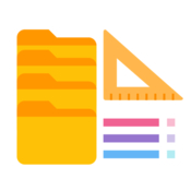 Folder size catalog measure directory size icon