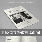 Minimal black and white magazine 17358159 icon