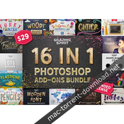 16 in 1 photoshop add ons bundle icon