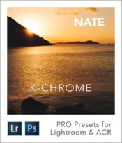 Nate k chrome lightroom and acr presets icon