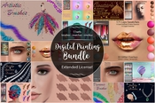 Digital painting bundle icon