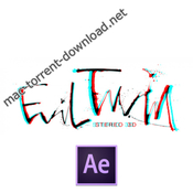 Evil twin stereo 3d icon