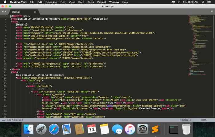Sublime Text 321 Build 3209 Dev Screenshot 01 57u4b0n