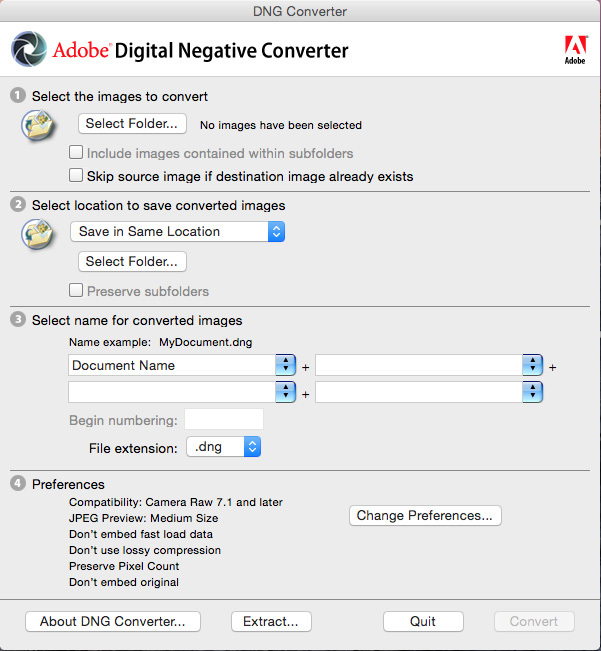 Adobe DNG Converter 114 Screenshot 01 kx4mp2n
