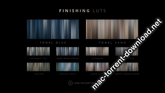 Lens Distortions Finishing LUTs Bundle Screenshot 01 136wden